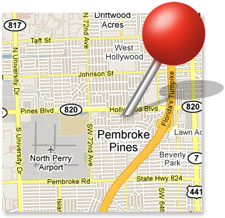Map of Printing Company near Pembroke Pines area