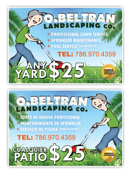 Huge landscape idea free landscaping designs examples of for Landscaping flyers templates