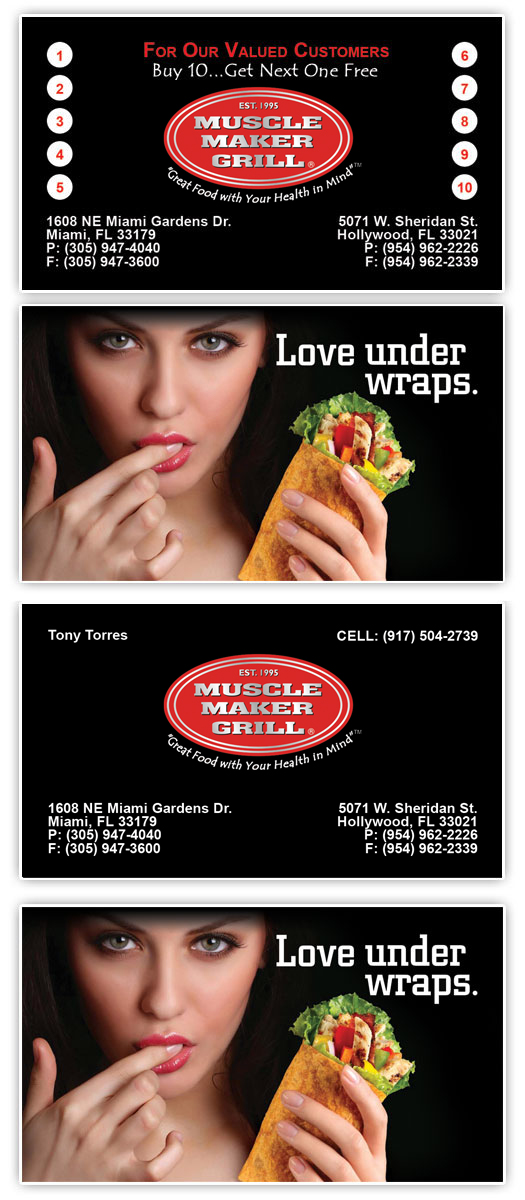 Business card design archives page 30 of 30 tight designs muscle maker grill business cards reheart Choice Image