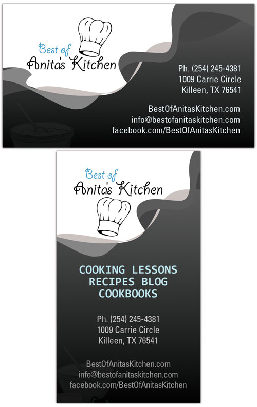 Best of anitas kitchen business card design tight designs best of anitas kitchen business card design reheart