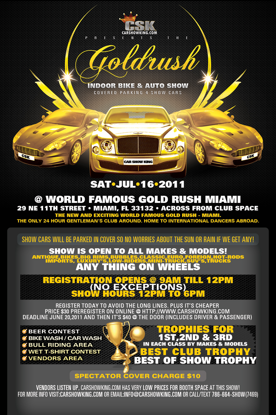 Gold Rush Car Show Promotional Flyer Design Tight Designs - Car and bike show flyer template