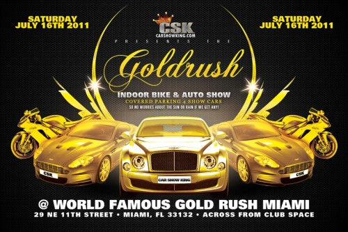 gold rush gentlemen club car show
