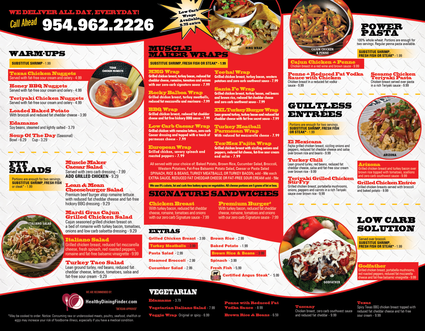 Muscle maker grill menu design printing in miramar fl