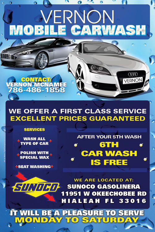Vernor Mobile Car Wash Promotional Flyer Tight Designs