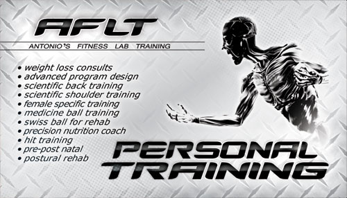 AFLT Personal Training Business Card Design Tight Designs - Personal trainer business cards templates