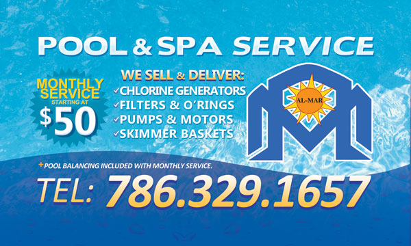 pool service flyers. Al-Mar Pool Service | Custom Perforated Window Decal Flyers T