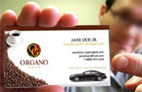 Organo gold business cards premium prints a low cost get your own business cards for your organo gold independent business colourmoves