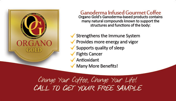 Organo Gold Distributor business cards