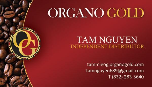 Organo Gold Business Card for Tam Nguyen