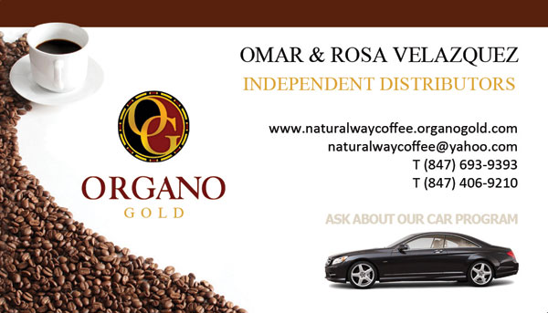 Organo Gold Distributor Cards