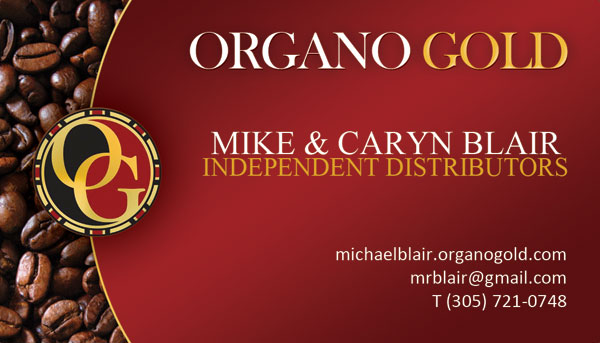 Mike Caryn Blair Organo Gold cards