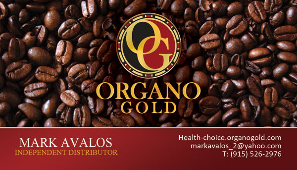 Mark Avalos Organo Gold card design