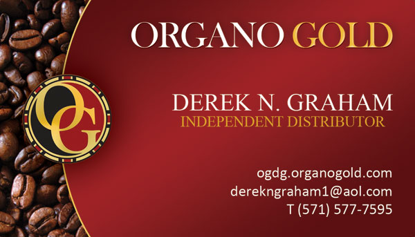 Derek N. Graham Organo Gold Business Card