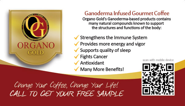 Organo Gold Business Card with QR Code