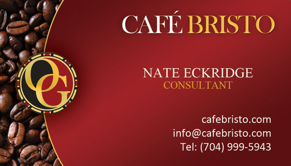 Nate Eckridge - Organo Gold Business Card Design
