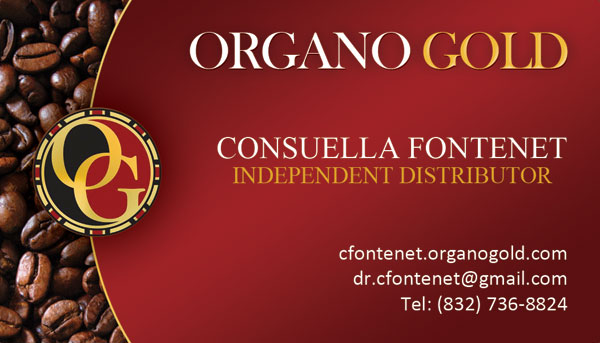 Consuella Fontenet Organo Gold Business Cards