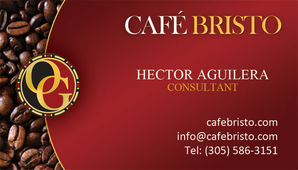 Hector Aguilera Organo Gold Business Cards