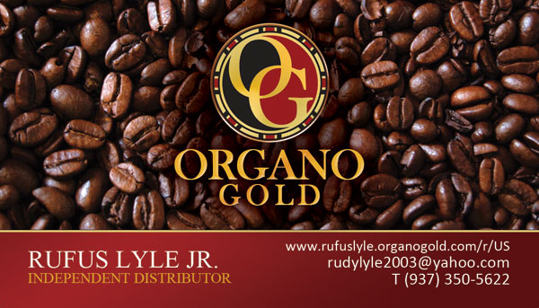 Rufus Lyle Jr Organo Gold Business Cards