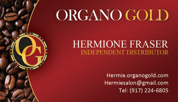 Hermione Fraser Organo Gold Business Cards