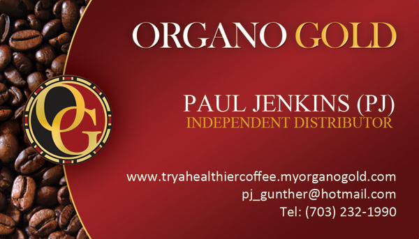 Paul Jenkins (PJ) Organo Gold Business Cards