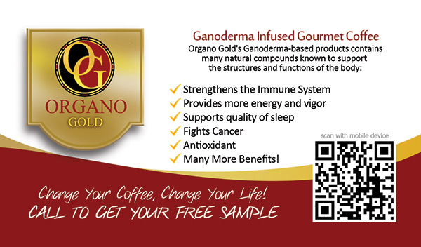 Cheap Organo Gold cards for Sandra Goshorn.