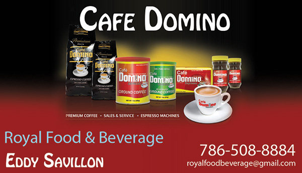 Business Cards made for new Coffee company in Doral Florida Cafe Domino.