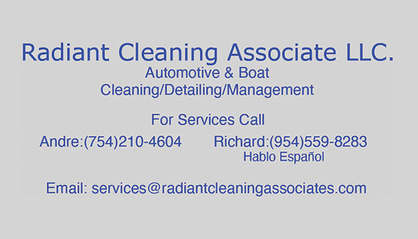 Business Cards for Automotive & Boat Cleaning company.