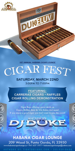 DJ Duke Luve Cigar Fest Event Flyer Design
