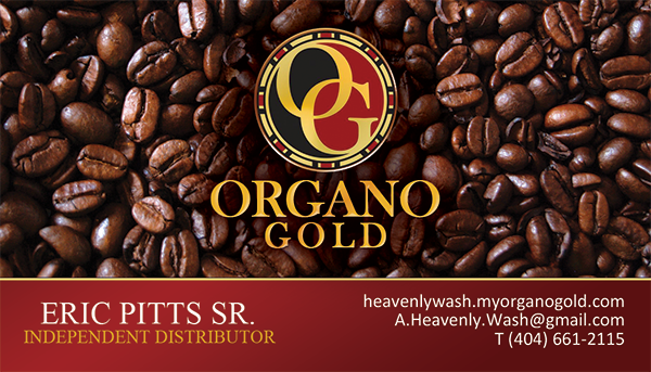 Organo Gold Business Cards for Eric Pitts Sr.