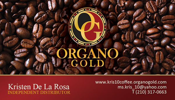 Organo Gold Business Card for Kristen De La Rosa