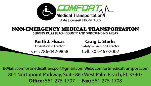 Comfort medical transport business cards business cards for comfort medical transport reheart Image collections