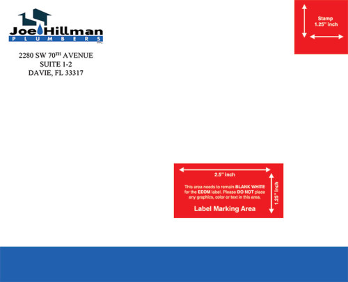 Every Door Direct Mail printing for Joe Hillman Plumbers of Broward Florida.