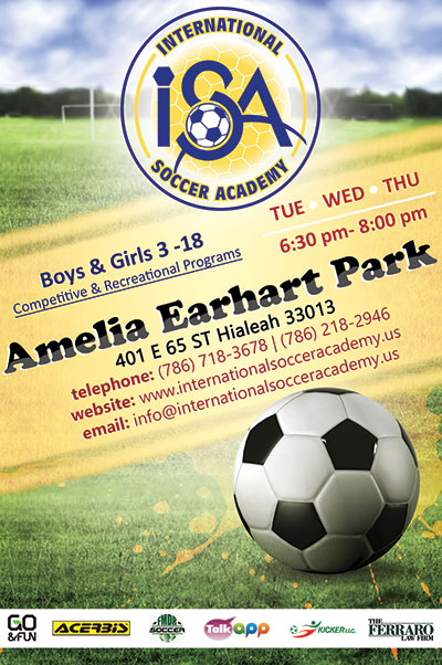 International Soccer Academy at Amelia Earhart Park Hialeah.