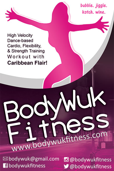 Flyer design for Body Wuk Fitness.