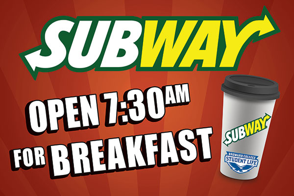 Subway Breakfast Rigid Bandit Sign.