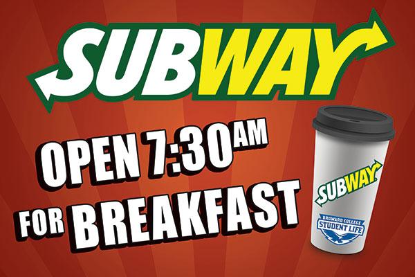 Subway Breakfast Rigid Bandit Sign.
