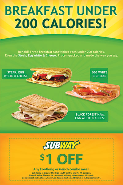 Subway Breakfast Under 200 Calories Flyer Design