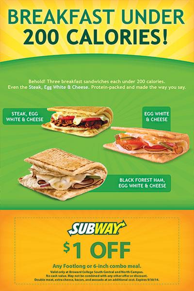 Subway Breakfast Under 200 Calories Flyer Design
