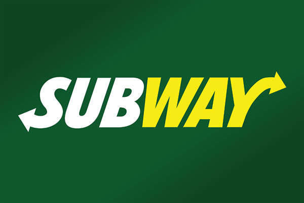 Subway Restaurant Gradient Sign