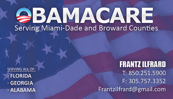 Obamacare Business Card Design