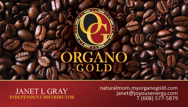 Janet L Gray Organo Gold Business Card