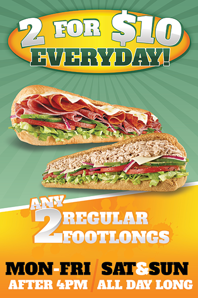 Subway Restaurant Window Sign Design & Print Florida