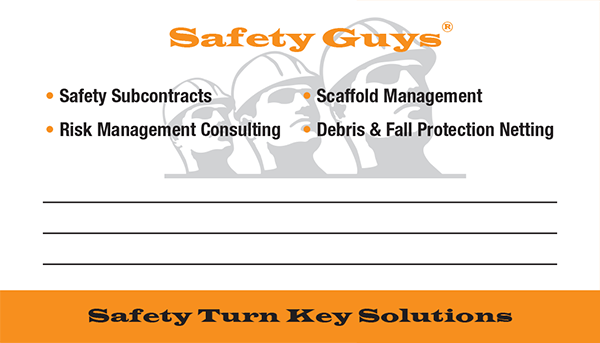 Business Cards printed for Safety Guys  of Pembroke Park, Florida