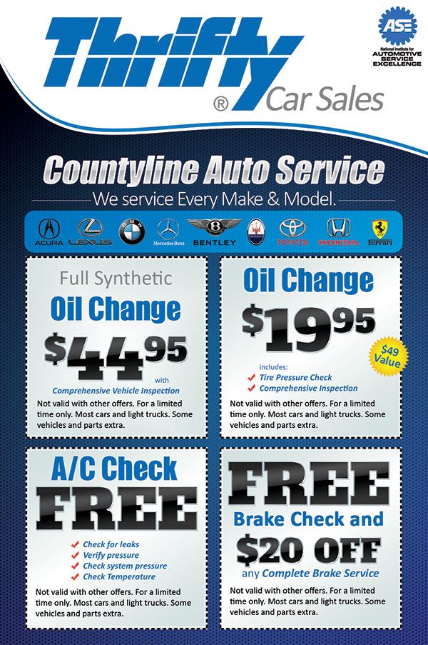 Thrifty Car Sales Auto Service Flyer Design