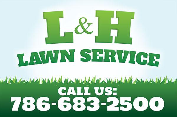 L&H Landscaper Flyer Design  Pembroke Pines