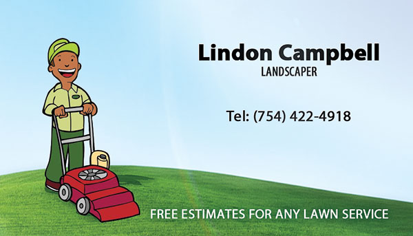 L&H Landscaper Business Card Printing Hollywood, FL
