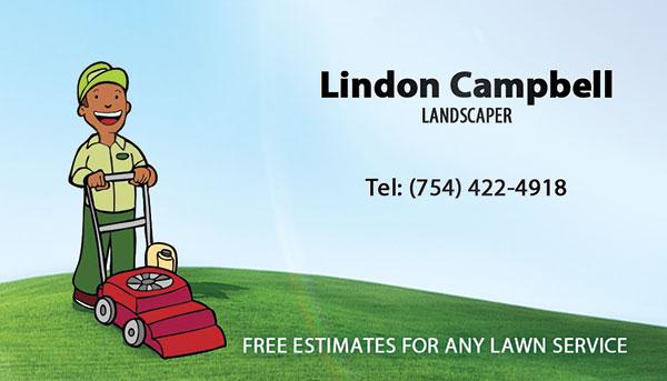 L&H Landscaper Business Card Printing Hollywood, FL