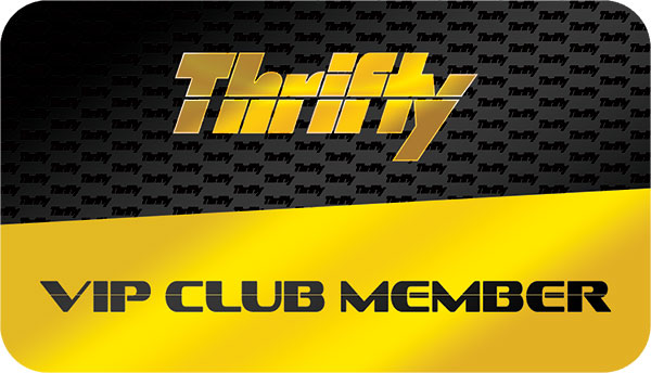 Thrifty VIP Club Member Card Design