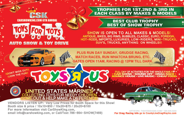 Toys For Tots Flyers : Toys r us for tots car show promotional design