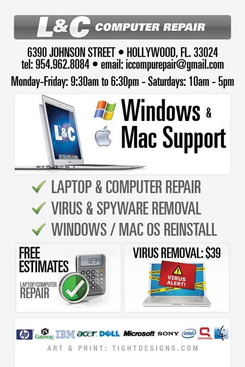 l u0026c computer repair hollywood florida